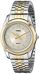Timex Men's T2N316 Elevated Classics Dress Two-Tone Expansion Watch