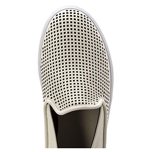Lacoste Women's Cherre 216 1 Flat, Off White/Black, 8 M US