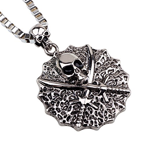 Winter's Secret Round Shape Pirates of the Caribbean Skull Pendant Europe America Style 22.44
