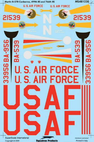 Superscale USA B-57B Canberra Decals - 1