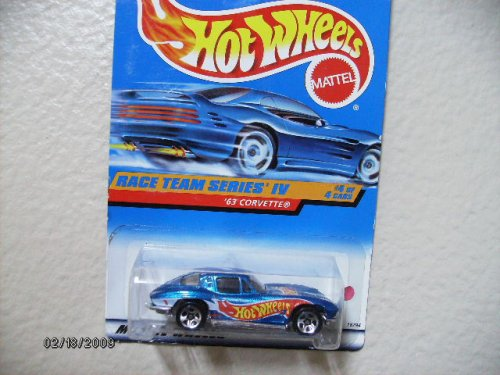 HOT Wheels 63 Corvette 1998 Race Team Series Iv #4 Collector #728 - 1