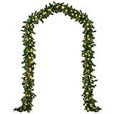 K�che & Haushalt - Tannengirlande 5m mit 100 Lichtern - Tannenzweig Girlande gr�n natur
