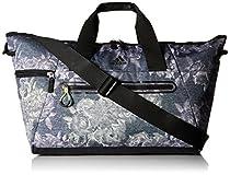 adidas Studio Duffel Bag, One Size, Tonal Floral Yola/Black