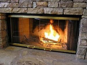 36 fireplace glass door set to fit heatilator