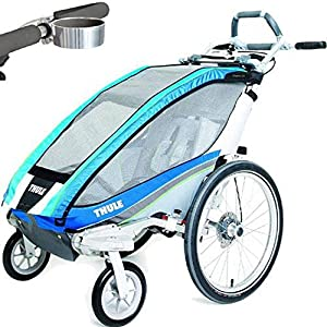 Thule Chariot CX 1 Child Carrier with Strolling Kit and Cup Holder - Blue