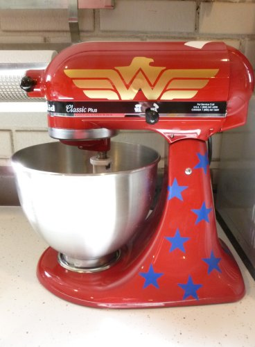 Amazonian Princess Decal Kit for RED Kitchenaid Stand Mixer, Wonder Woman Inspired On Sale