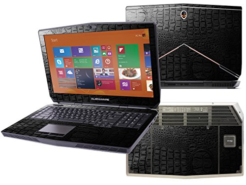Decalrus – 2015 Alienware 17 R2 Touch Screen (17.3″) laptop Crocodile skin pattern Texture skin Carbon Fiber skins decal for case cover wrap CRO2015alienware17Black