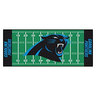 FANMATS NFL Carolina Panthers Nylon Face Football Field Runner