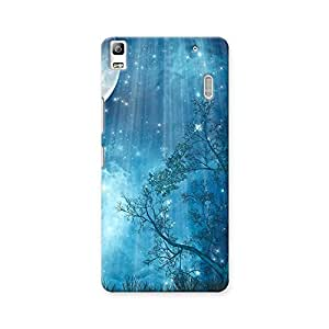 ArtzFolio Fantasy Landscape With Big Moon In The Forest : Lenovo A7000 Matte Polycarbonate ORIGINAL BRANDED Mobile Cell Phone Protective BACK CASE COVER Protector : BEST DESIGNER Hard Shockproof Scratch-Proof Accessories