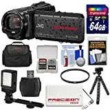 JVC Everio GZ-R550 Quad Proof Full HD 32GB Digital Video Camera Camcorder with 64GB Card + Power Bank + Case + Tripod + Filter + LED Light Kit