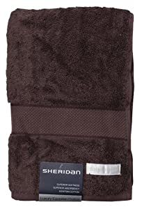 Sheridan S1HBTR446 - Toalla (algodón egipcio, 69 x 140 cm), color marrón de Sheridan