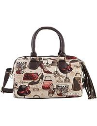 Modische Tapisserie Quastenhandtasche für Frauen im Signare Stil Boutique