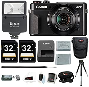 Canon G7X Mark II Camera with 64GB Card and Holiday Bundle