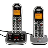 Valued BT Big Button 4500 Telephone with Answer Machine - Twin with accompanying HSB Microfibre Cleaning Glove