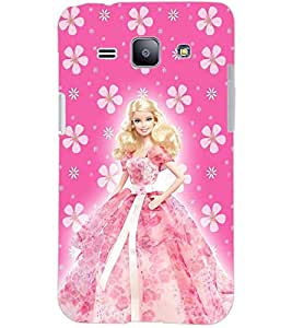 PrintDhaba BARBIE DOLL D-6436 Back Case Cover for SAMSUNG GALAXY J1 (Multi-Coloured)
