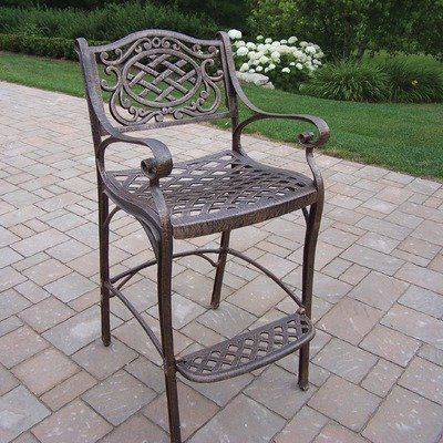 Oakland Living 2110-AB Mississippi Outdoor Bar Stool, Antique