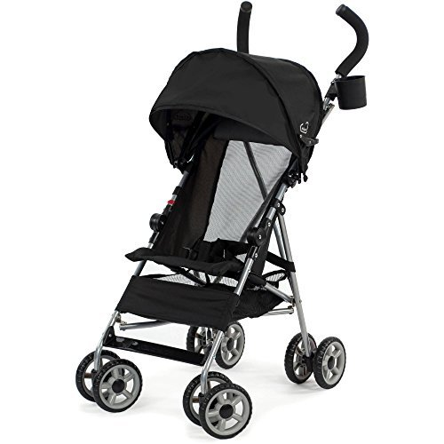 3-point-Safety-Harness-Cloud-Umbrella-Stroller-Black