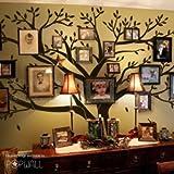 Cadre photo famille géant Arbre Sticker mural DIY Sticker mural en vinyle pour décoration de chambre pour Bébé et Enfant