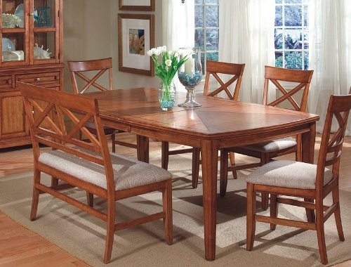 Buy Low Price Coaster Contemporary Design Walnut Finish Rectangle Dining Table w/Leaf (VF_101280)