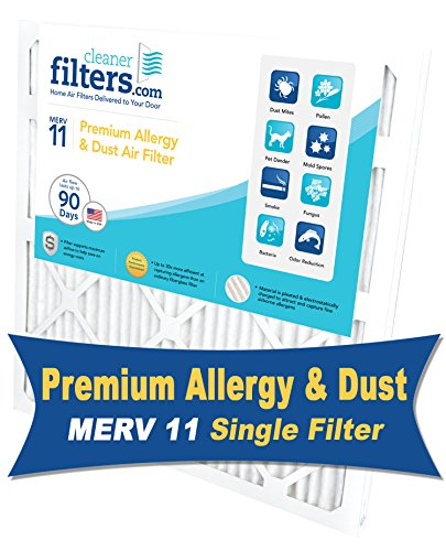 Cleaner Filters 18x24x1 Air Filter, Pleated High Efficiency Allergy Furnace Filters for Home or Office with MERV 11 Rating (1 Pack) (General Air Conditioner 18 Unit compare prices)