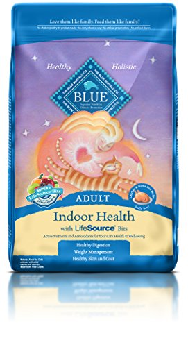 Blue Buffalo Adult Cat Indoor Formula Dry Cat Food, 15 lb Bag