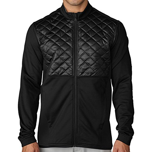 Adidas Mens Climaheat Prime Quilted Full Zip Jacket Black/Black Xl