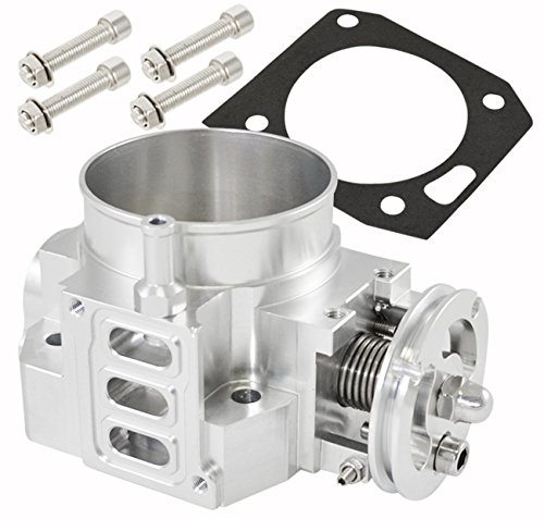 Silver 70mm Intake Manifold Throttle Body Plate Assembly For K-Series K20 K20A2 Engines (2004 Civic Intake compare prices)