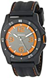 Breda Men's 1630-black Kevin Thick Bezel Cut Out Dial Watch
