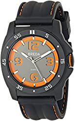 Breda Men's Kevin Thick Bezel Cut Out Dial Watch