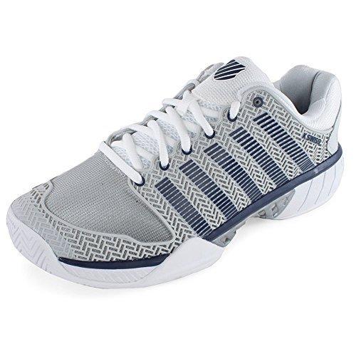 K-Swiss Men's Hypercourt Express Tennis Shoe,Glacier Grey/White/Navy,US 13 M
