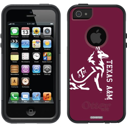 Special Sale Texas A&M Mascot Full design on a Black OtterBox® Commuter Series® Case for iPhone 5s / 5