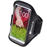 SumacLife Outdoor Sports Armband Case Pouch For LG G2 / LG Optimus L9 (Black)