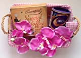 Get well soon drinking chocolate and Thorntons special toffee hamper