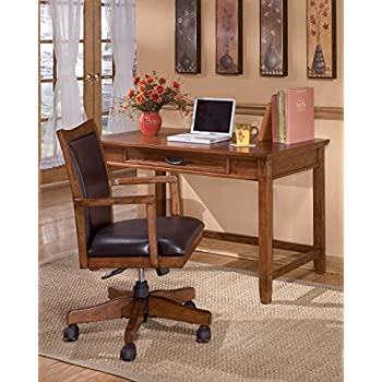 Crossingland Medium Brown Luxurious Home Office Swivel Desk Chair