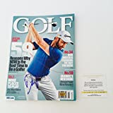 PGA Tour Dustin Johnson Signed Golf Magazine LSC Witness COA