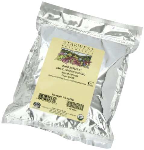 Starwest Botanicals Organic Garlic Powder, 1-Pound Bags (Pack Of 3)