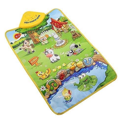 Owfeel Dream Farm Land Play Mat Musical Carpet Baby Crawl Play Mat Blanket