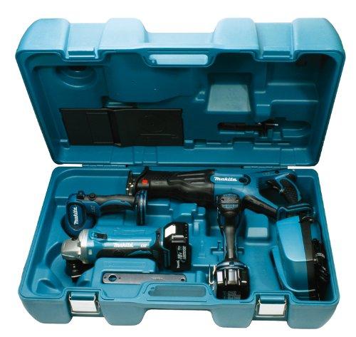 Makita DK1868 Combo-Kit 18 V (BDF456+BGA452+BJR181+BML185)