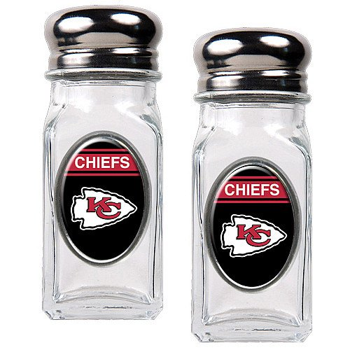Nfl Kansas City Chiefs Salt And Pepper Shaker Set With Crystal Coat