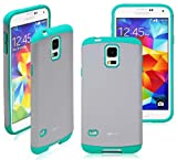 Ionic BELLA Samsung Galaxy S5 Case Smartphone (AT&T, T-Mobile, Sprint, Verizon) (Gray/Green)