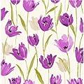 Fine Decor Tulip Floral Wallpaper Purple / Cream / Green