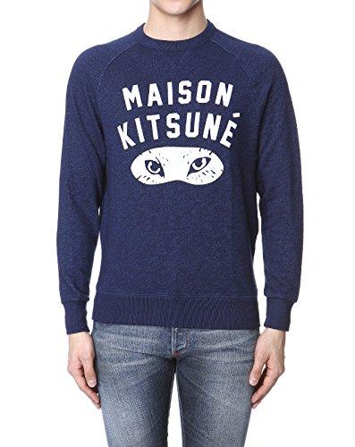 (メゾン キツネ) MAISON KITSUNE 長袖スウェット INDIGO ダークブルー FOX EYES フォックス アイズ M SS16M736 IN [並行輸入品]
