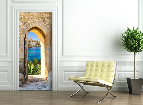 Door Wallpaper self adhesive - MEDITERRANEAN