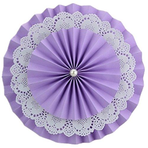 Aimeart Double Layer Paper Fan Flower 3 Pcs 4