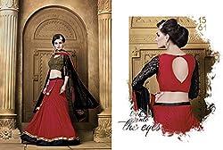 KMOZI Red Colour Soft Net Designer Lahenga Choli