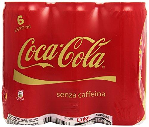Coca Cola - Bevanda Analcolica Seza caffeina, 330 ML (Confezione da 6)