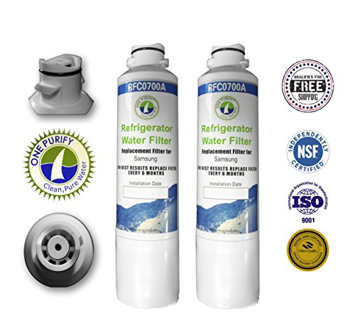 2 Pack - Onepurify Water Filter To Replace Samsung, Kenmore, Sears, Da29-00020A, Da29-00020B, Da2900020A, Da2900020B, Da-97-08006A, Da-97-08006A-B, Da-97-08006B, Da2900019A, Da97-08006A-B, Da29-00019A, Haf-Cin, Haf-Cin-Exp, Haf-Cinexp, Hafcin, 9101, 46-91 front-143458