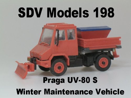 Praga UV-80 S Winter Maintenance Vehicle 1:87 HO Scale Model Kit 198 SDV Models