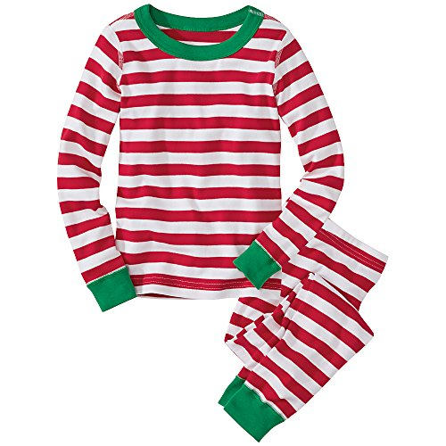 Hanna Andersson Baby Long John Pajamas In Organic Cotton, Size 90 (36 Months), Hanna Red/White front-685706
