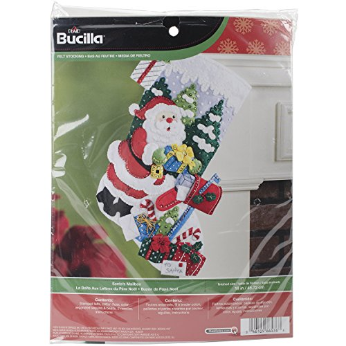 "Santa's Mailbox Stocking Felt Applique Kit-18"" Long"